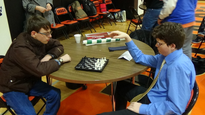 Chess Tournament: pre-match practice Wyatt and Joey