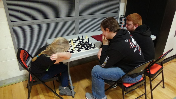 Chess Tourney: Pre-match practice Ian Heit
