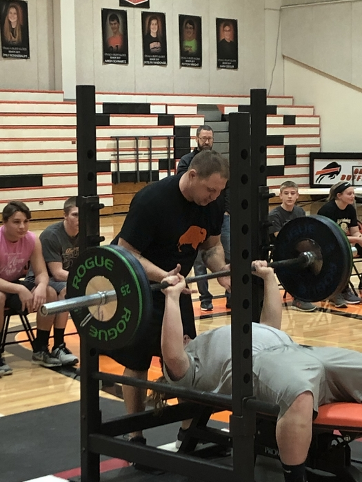 Ethan Schlegel maxing out at OHS Lift a Thon