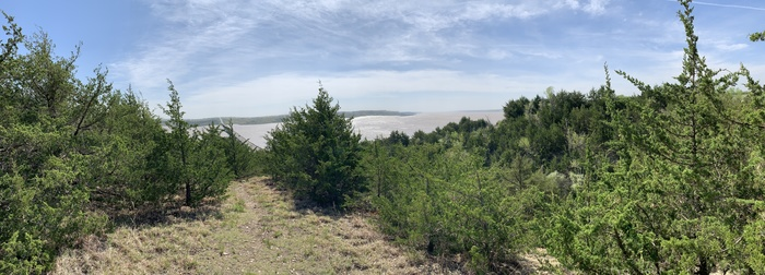 Tuttle Creek Lake at 41 Feet above its normal holding Capacity, Fancy Creek State Park, Riley County Kansas