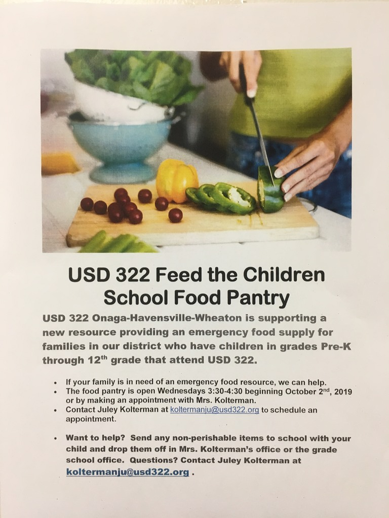 School Food Pantry Flyer
