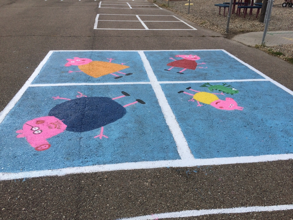A freshly painted 4 square.