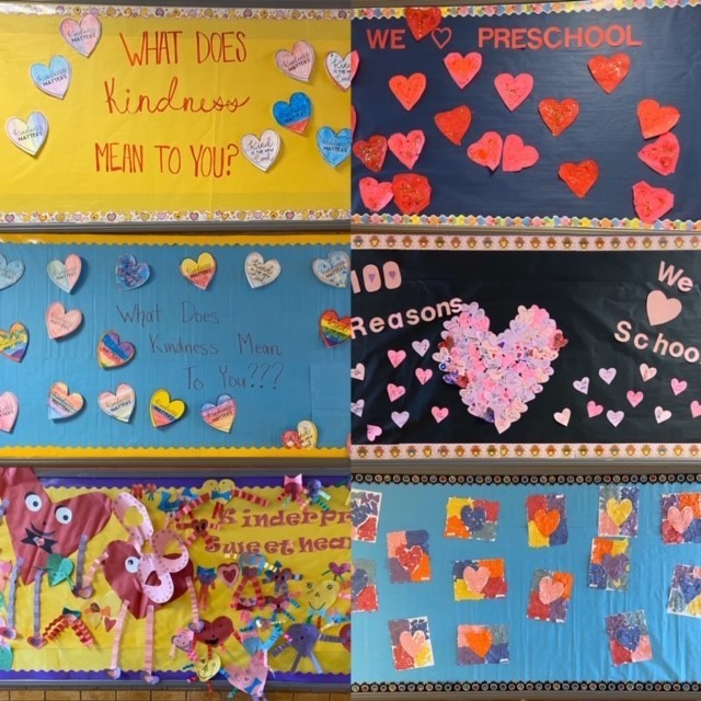 Colorful Valentines Day Bulletin Boards