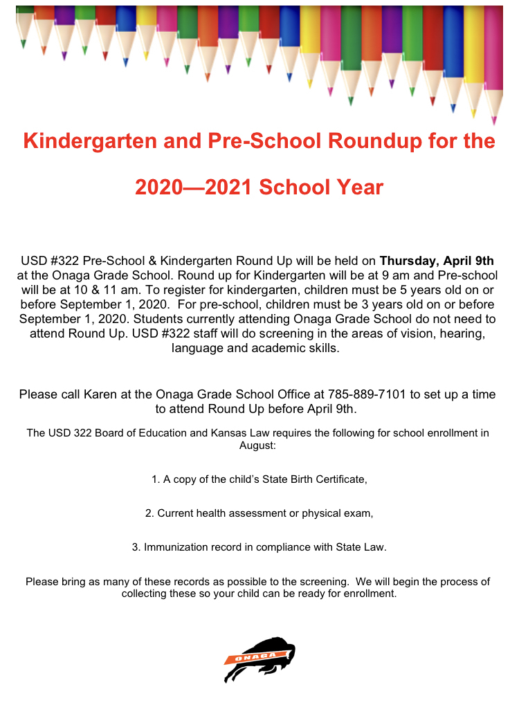 Kindergarten Roundup and Preschool screenings