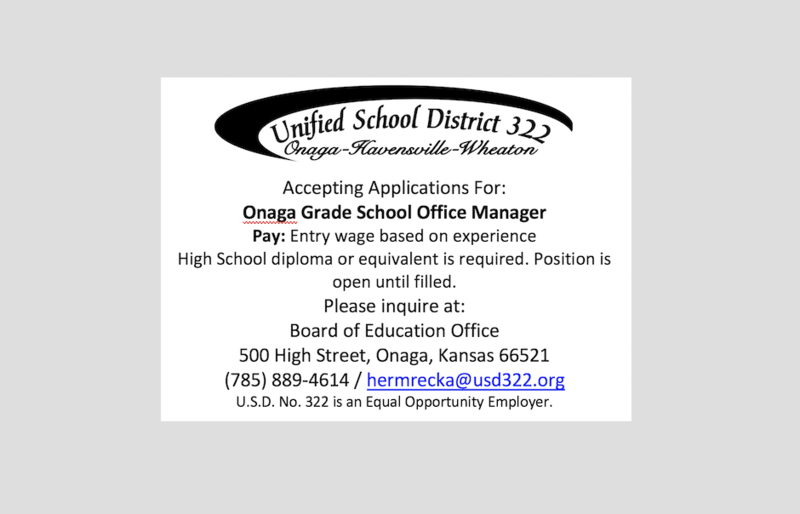 Position Open - Grade School Office Manager